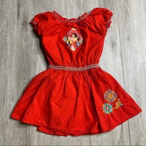 Disney Elena of Avalor Embroidered Red Dress